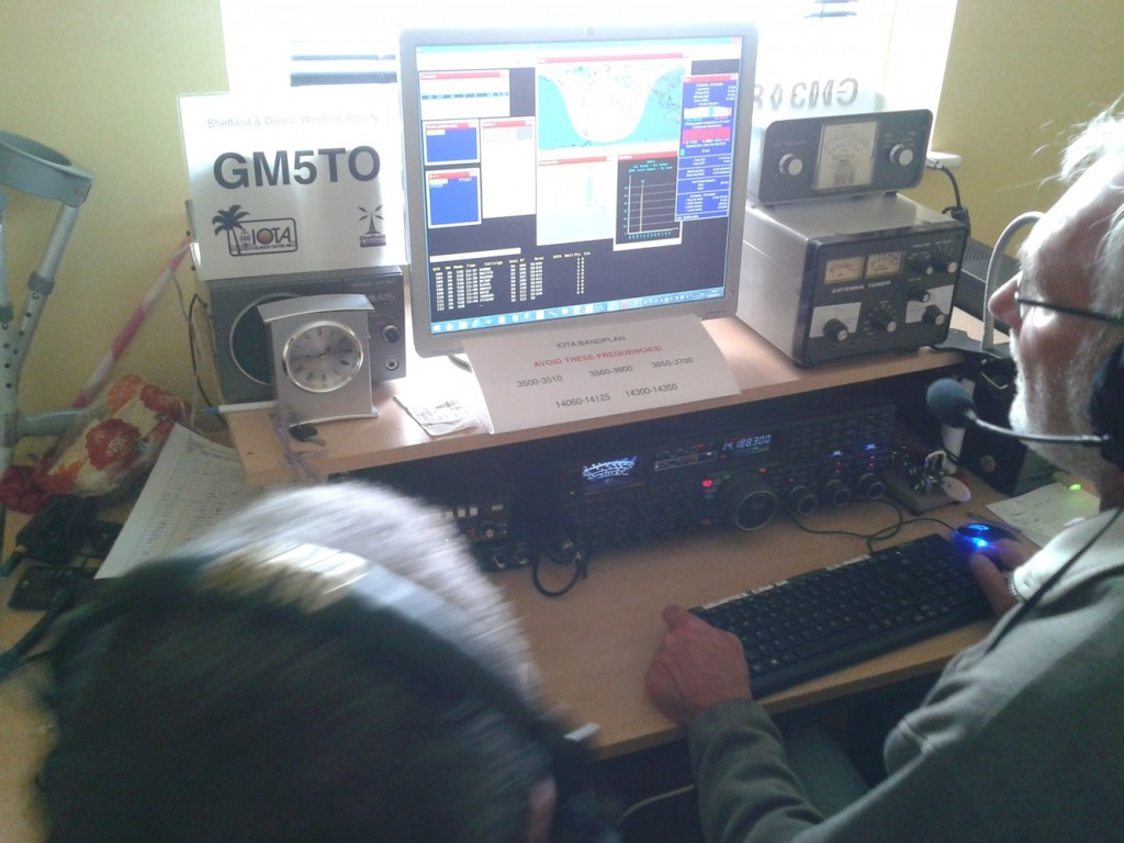 GM5TO EU 123 G0EAK at the station on 20m during  the second hour of the IOTA contest V2